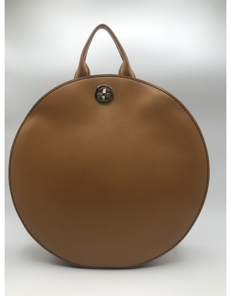 BogaBag Natural Leather Circle Backpack