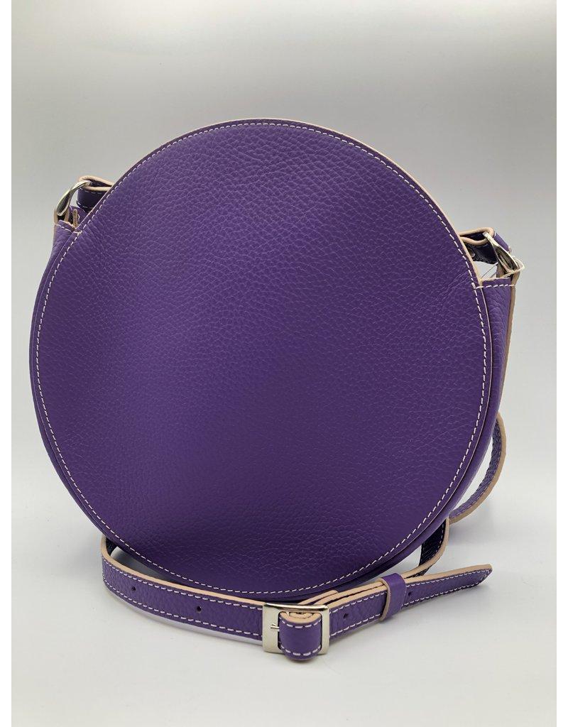 BogaBag Small Purple Circle Crossbody Bag