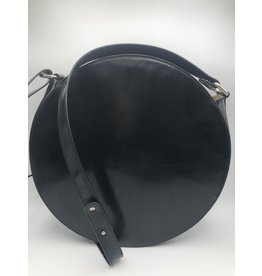 BogaBag Black Patent Circle Crossbody Bag