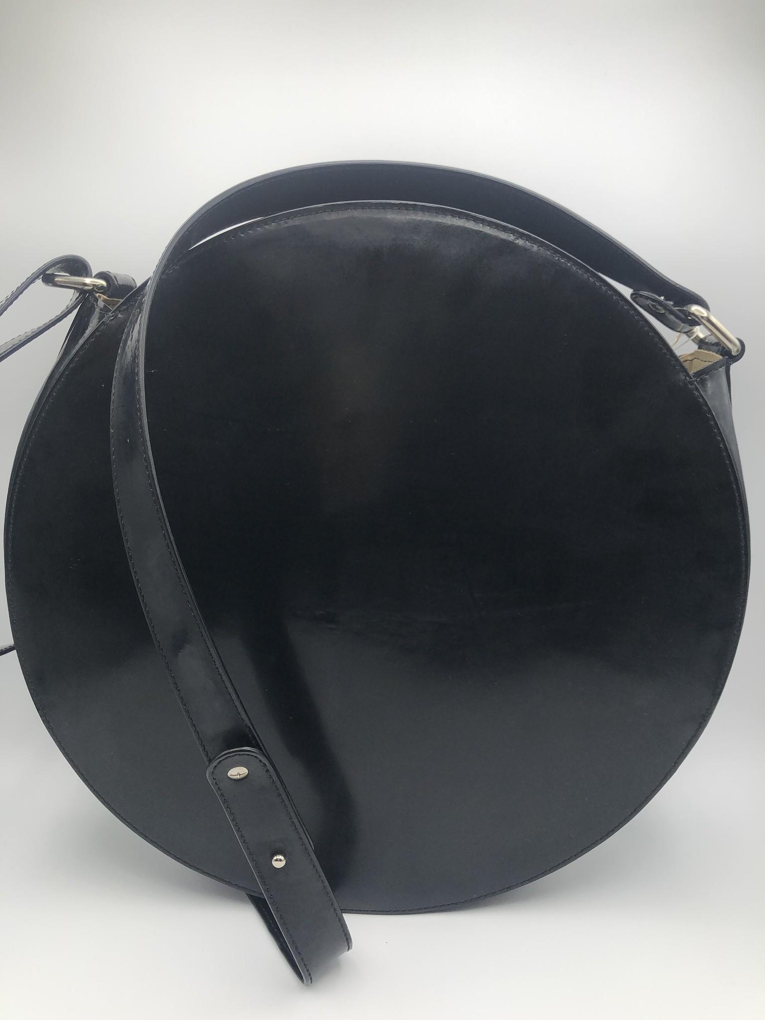 BogaBag Black Patent Circle Crossbody Bag