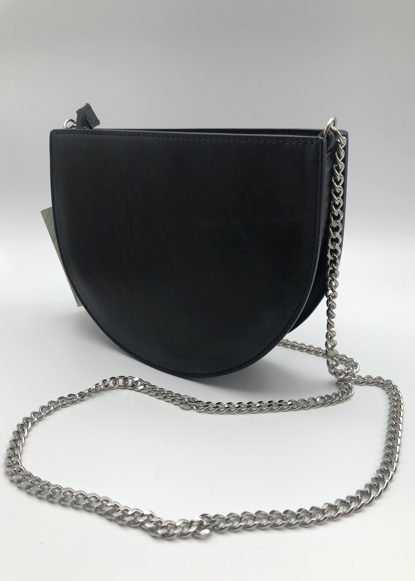 BogaBag Black Half Circle Crossbody Bag