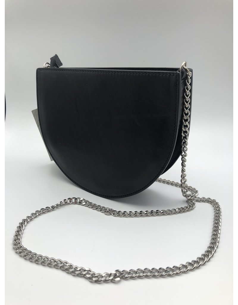 BogaBag Black Half Circle Crossbody Bag
