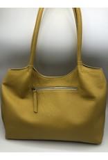 BogaBag Yellow Leather Shoulder Tote Bag