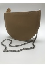 BogaBag Natural Half Circle Crossbody Bag