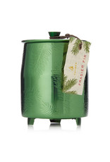 Thymes Frasier Fir Medium Poured Candle Green Metal Tin