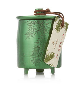 Thymes Frasier Fir Small Poured Candle Green Metal Tin