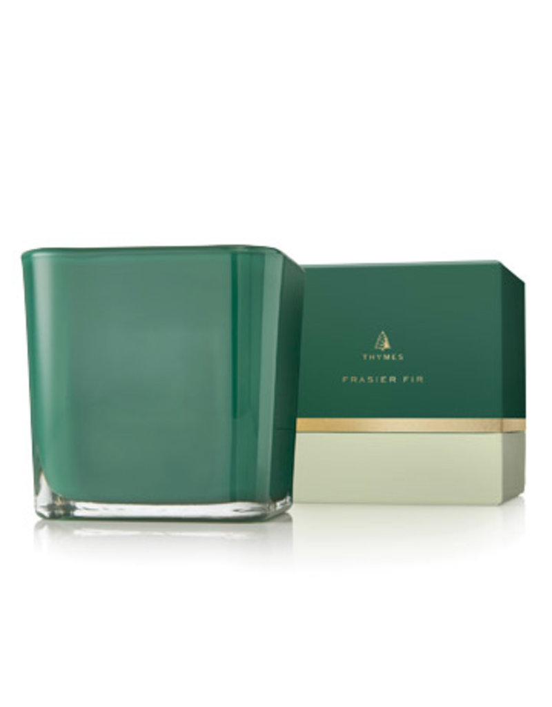 Thymes Frasier Fir Grand Noble Large Poured Candle Emerald
