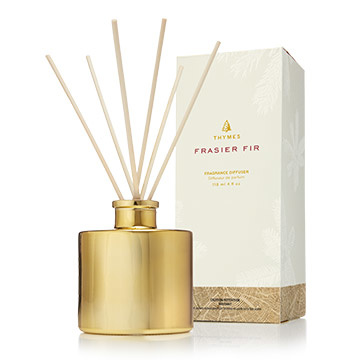 Thymes Frasier Fir Gilded Reed Diffuser Petite Gold