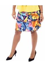 Fashque Tropical Leaves Ruffle Skort L