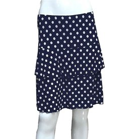 Fashque Navy and White Polka Dot Ruffle Skort 1X