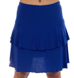 Fashque Royal Blue Ruffle Skort Large