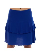 Fashque Royal Blue Ruffle Skort 1X