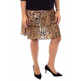 Fashque Leopard Ruffle Skort S