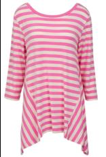 Nantucket Tunic - Pink & White XXL