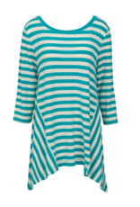 Nantucket Tunic - Turquoise  White  XXL