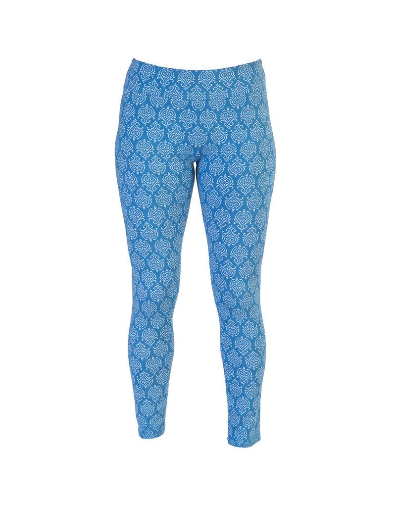 Go2 Leggings - Blue Ikat - XL