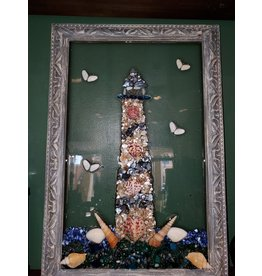 Sherri's Beachy Creations Lighthouse Resin Art by Sherri