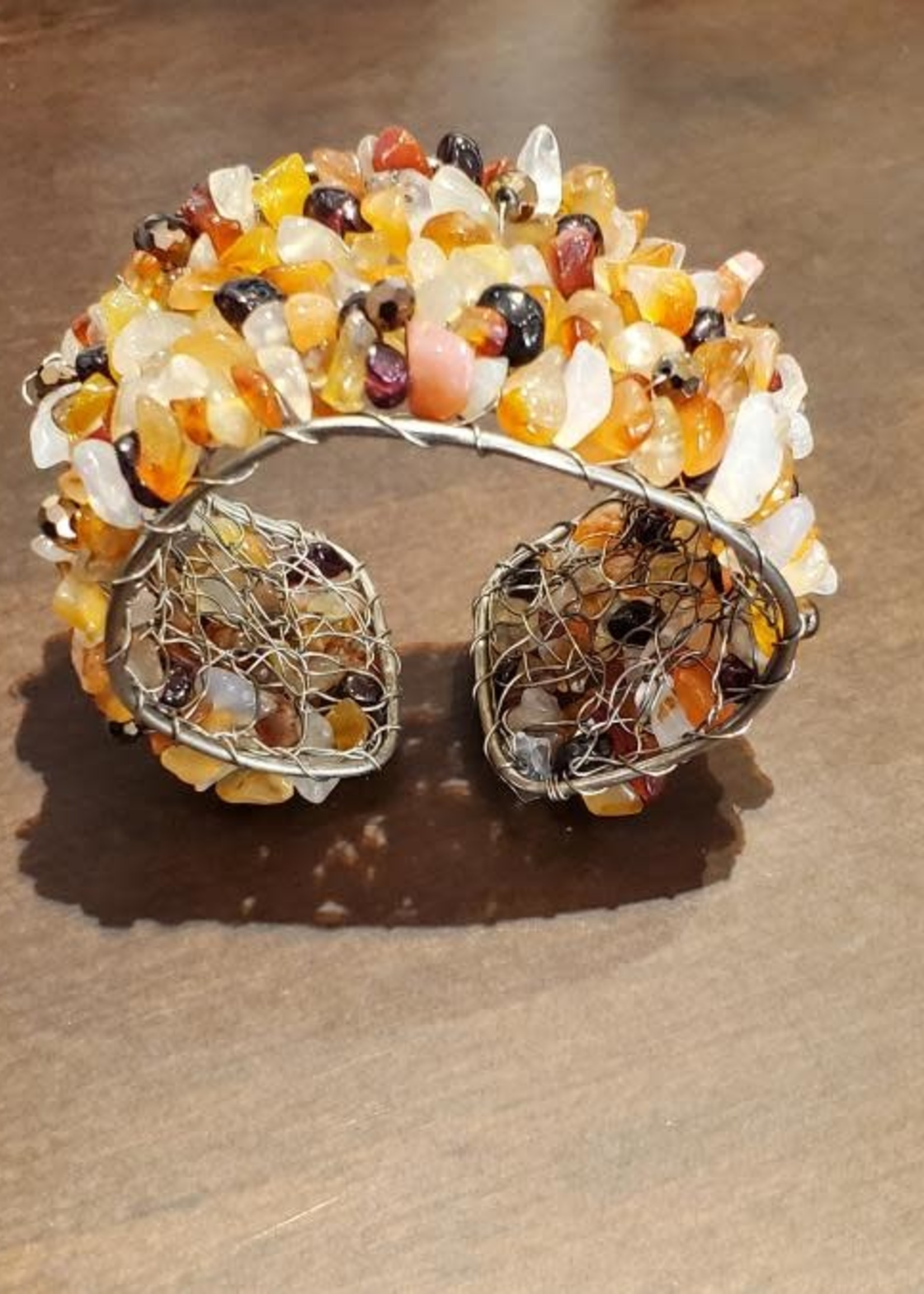 Cecile of Naples Stone Cuff Bracelet by Cecile of Naples