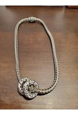 Cecile of Naples Herringbone Silver Necklace by Cecile of Naples 16""