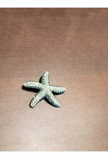 Cecile of Naples Green Crystal Starfish Pin by Cecil of Naples