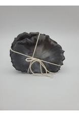 Sherri's Beachy Creations Set of 4 Black & Silver Coasters Resin Art by Sherri