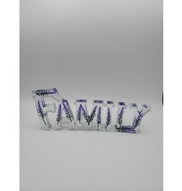 Sherri's Beachy Creations Sparkly Lavender Decorative Artisan Family Sign Resin Art by Sherri