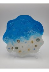 Sherri's Beachy Creations Decorative Artisan Plate Resin Art by Sherri