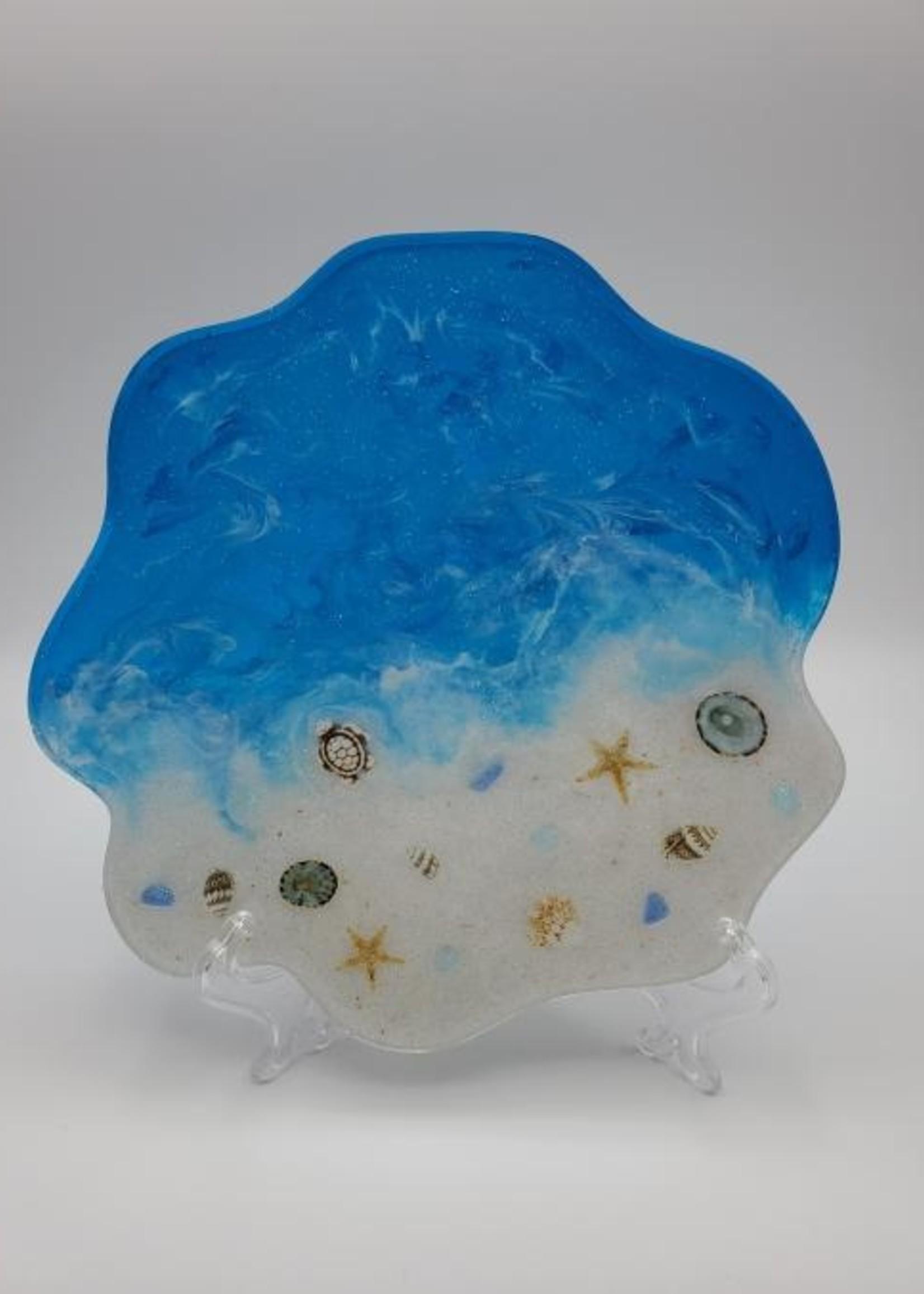 Sherri's Beachy Creations Decorative Artisan Plate Resin Art by Sherri