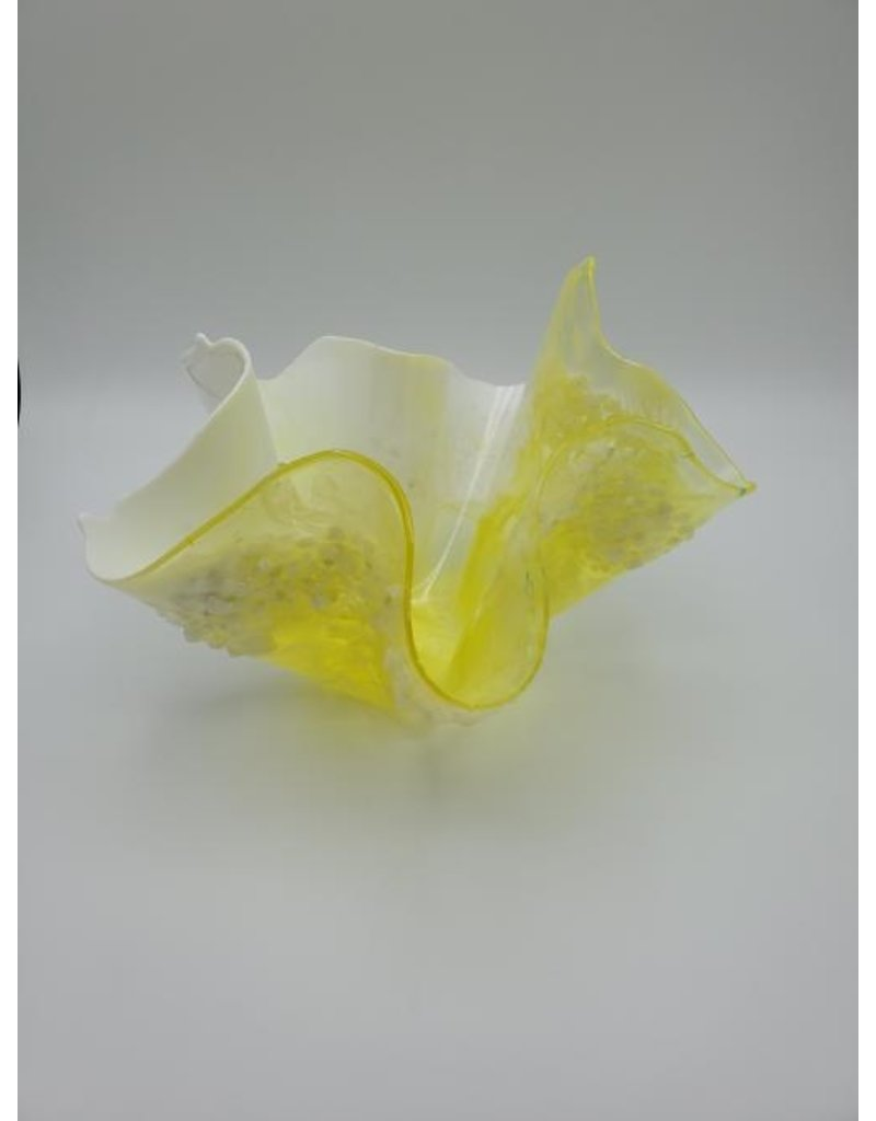 Sherri's Beachy Creations Lemon Yellow Decorative Artisan Bowl Resin Art by Sherri