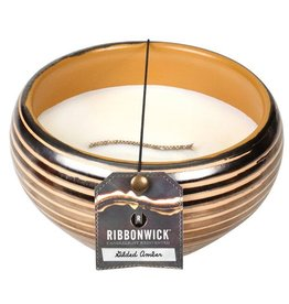 Virginia Gift Brands Ribbonwick Medium Round Gilded Amber