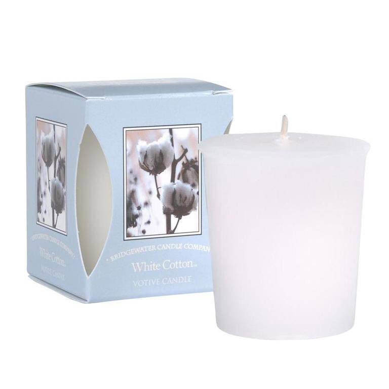 Bridgewater Candle Co White Cotton Votive
