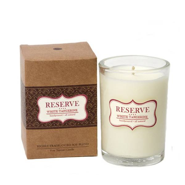 Aspen Bay Candles Reserve Tumbler White Tangerine 8oz