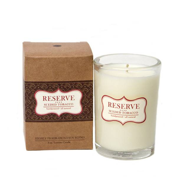 Aspen Bay Candles Reserve Tumbler Sueded Tobacco 8oz