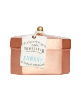 Aspen Bay Candles Octagon Tea Tin- Sundry  12oz