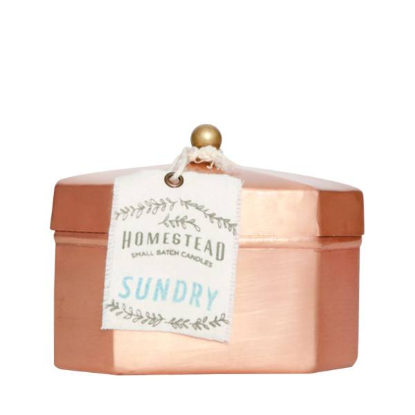 Aspen Bay Candles Octagon Tea Tin- Sundry  12oz