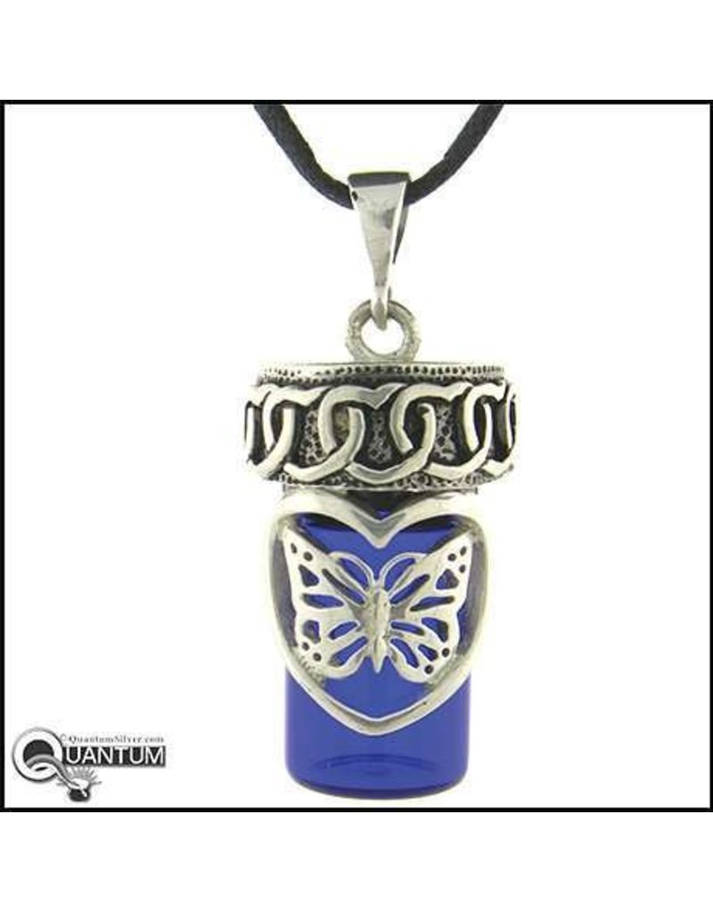 Pewter Butterfly Love Bottle Necklace