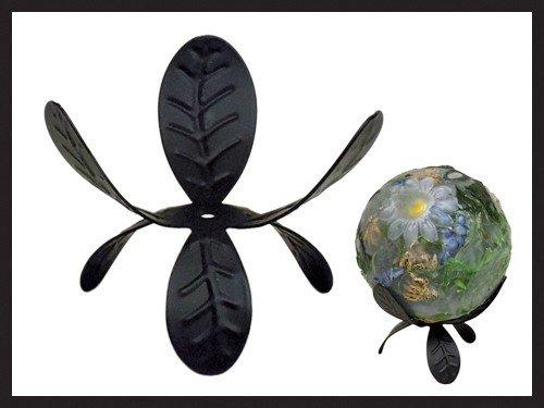Habersham Candle Co Black Trillium Sphere Stand