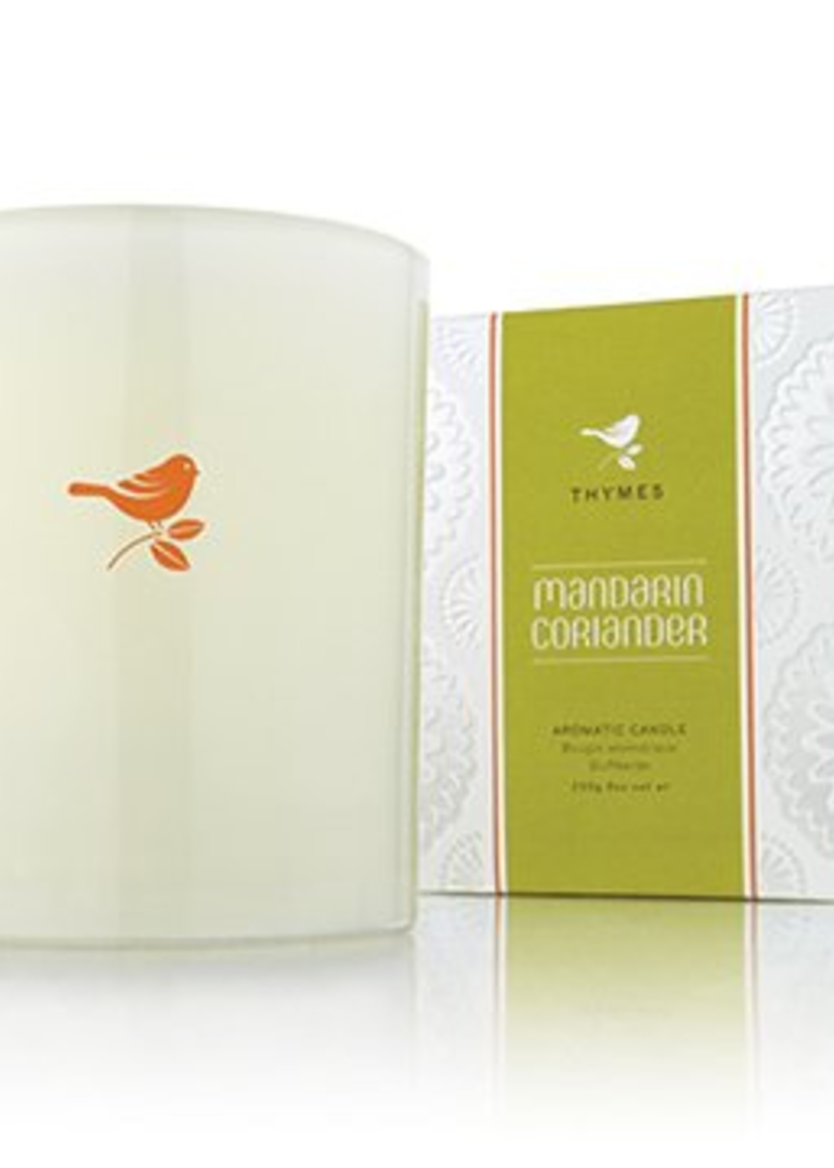 Thymes Mandarin Coriander Candle with Bird