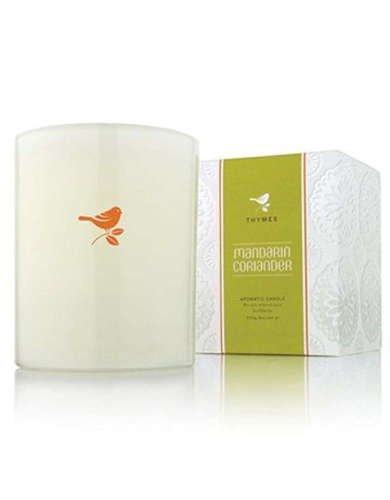 Thymes Mandarin Coriander Candle with Bird
