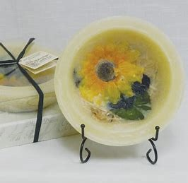 Habersham Candle Co Sunflower Lemon Vanilla Wax Pottery Personal