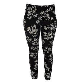 Go2 Legging Black & White Floral SM