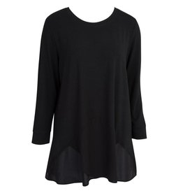 Chiffon Essential Tunic-Ebony-XXL