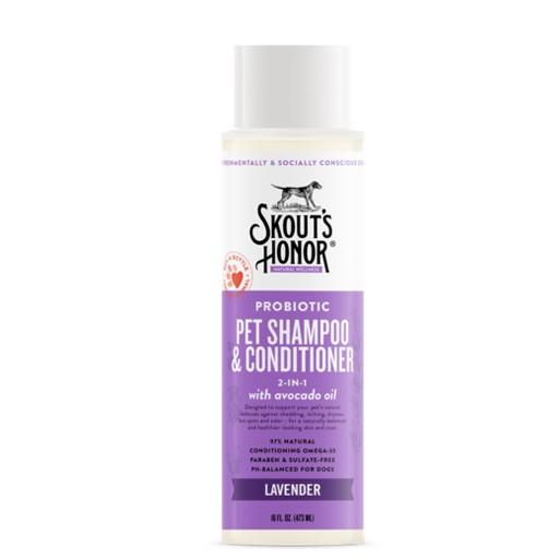 Skout's Honor Skout's Honor Probiotic Pet Shampoo & Conditioner Lavender 16oz