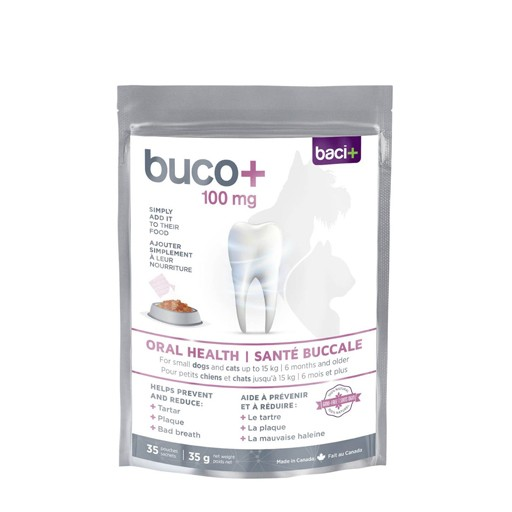 Baci+ Buco+ Oral Health for Small Dog and Cats 100mg