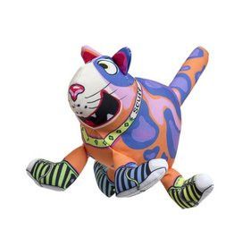 Fuzzu Fuzzu That Sneaky Cat! Scuff Dog Toy Medium