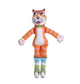 Fuzzu Fuzzu That Sneaky Cat! Socks Dog Toy Medium