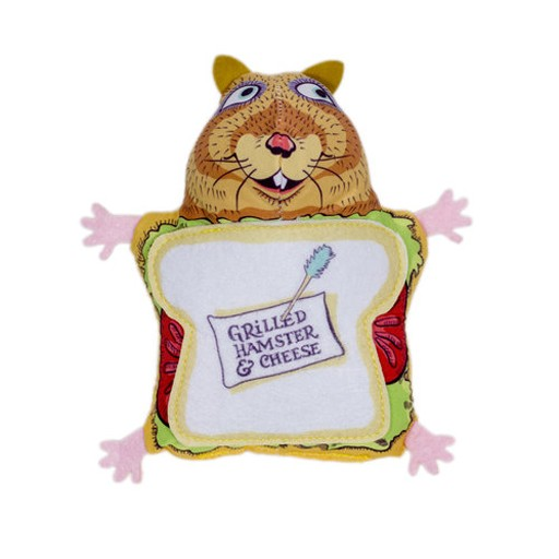 Fuzzu Fuzzu Fluffy's Snack Bar Grilled Hamster & Cheese Cat Toy