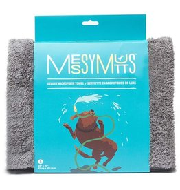Messy Mutts Messy Mutts Deluxe Microfibre Towel Cool Grey Medium
