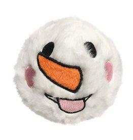 Fou Fou Dog Fou Fou Snowman Fuzzy Ball Spiker, Tongue Face