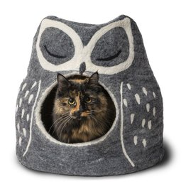 Dharma Dog Karma Cat Dharma Dog Karma Cat Wool Felt Owl Cave Grey